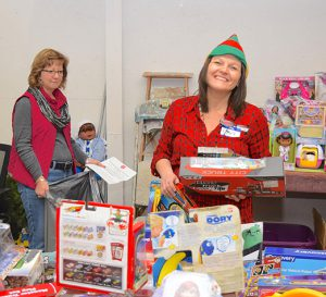 Kendra Frias of Davis-Besse at Toy Distribution