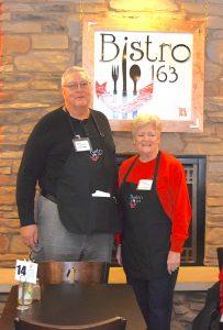 Bistro 163 volunteers Dick Dietz and Ginny McCook