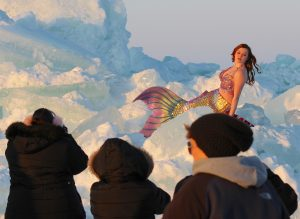 Lake Erie Mermaid on Ice