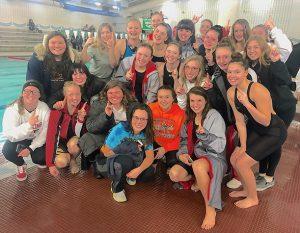 PCHS Girls swim and dive teams are SBC Lake Division Champions