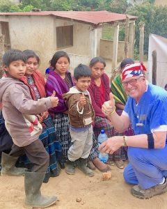 Dr. John Davenport of Catawba Island and Guatemala children