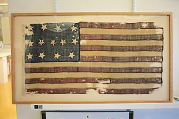 Rare 13-star American flag on display at Flag City USA for Flag Day on June 14