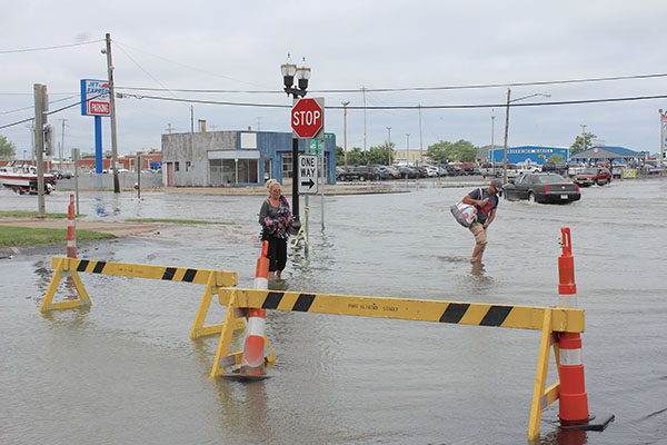 Weather provides a respite to Port Clinton high water