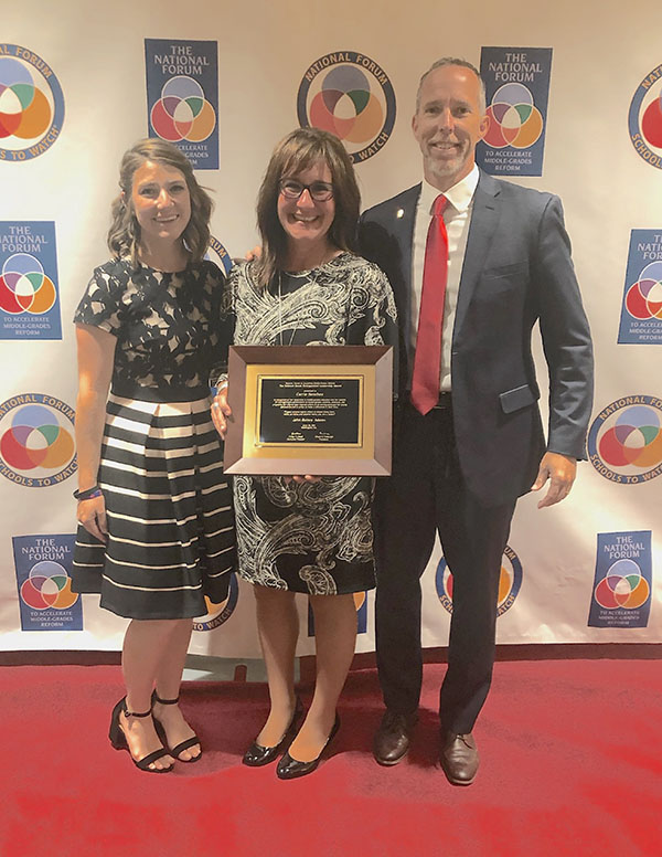 Principal Carrie Sanchez receives National Leadership Award