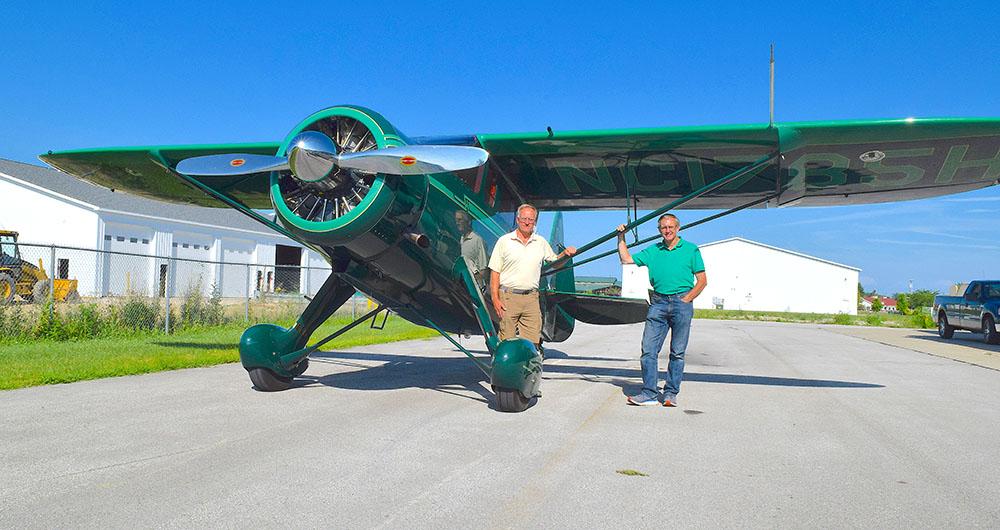 Jim, Ken Kreutzfeld capture Grand Champion in Oshkosh with 1943 Howard airplane