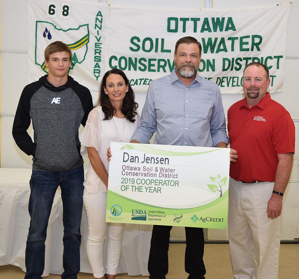 Dan Jensen honored as OSWCD Cooperator of Year
