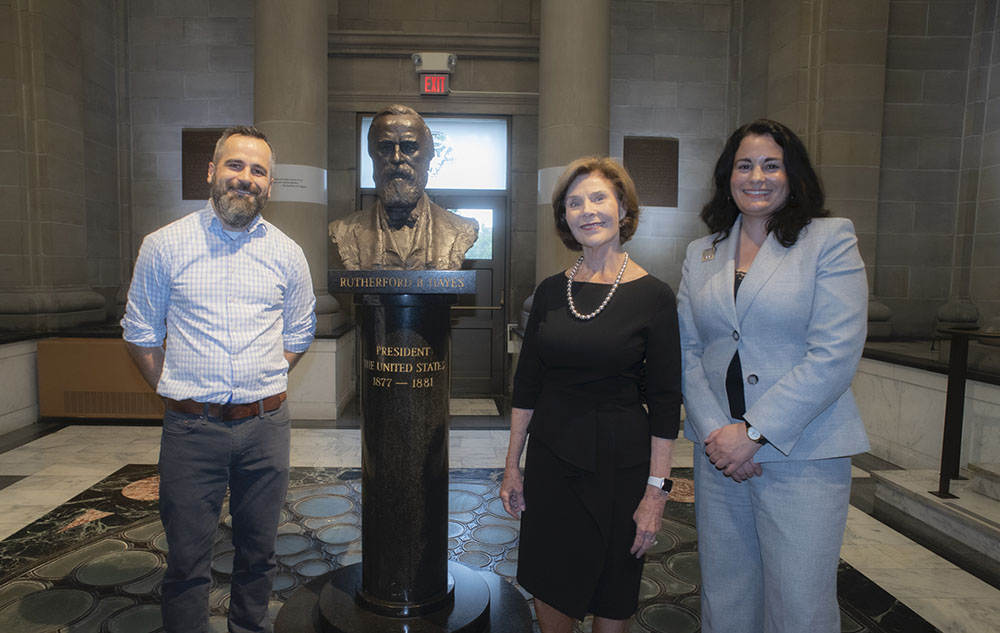 Former First Lady Laura Bush visits the Hayes Presidential Library