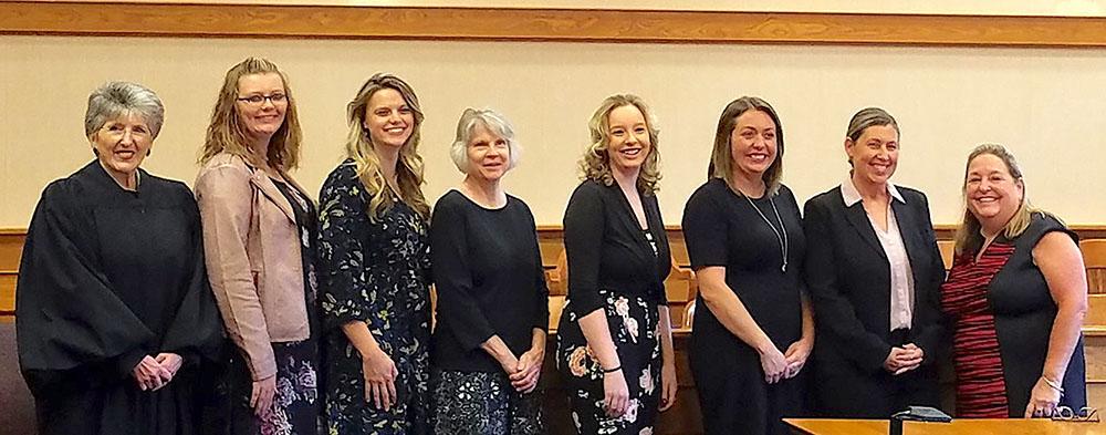 Judge Kathleen Giesler swears in six CASA volunteers