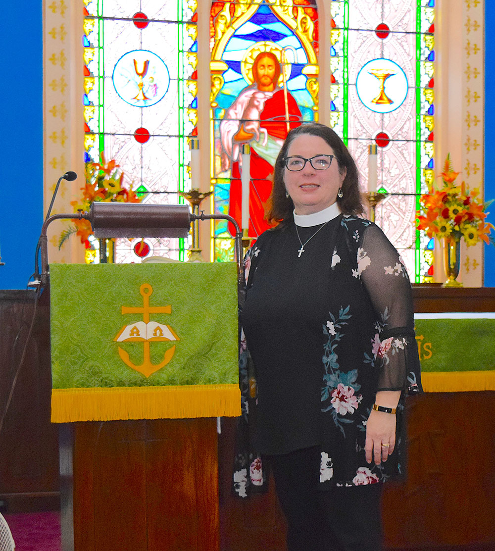 Pastor Beth at two Marblehead churches has a song in her heart