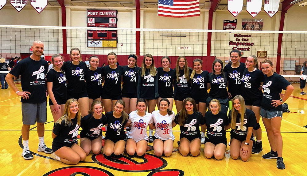 Port Clinton High School volleyball players 'DIG for Diabetes'