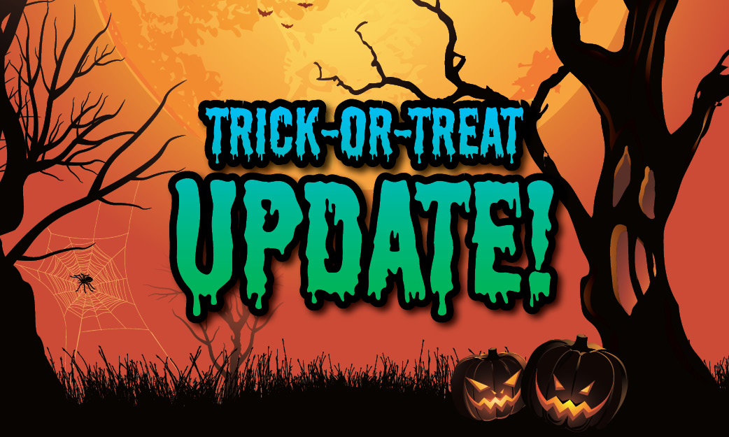 Area Trick-or-Treat updated dates and times