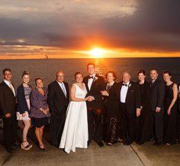 Stouffer family wedding photo at Catawba Island Club in 2017
