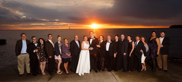 Stouffer family wedding photo at Catawba Island Club in 2017