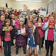 Girl Scout Troop 11593 at the BCS Food Pantry in Oak Harbor
