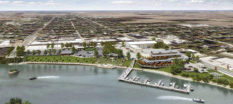 Aerial view of Oak Harbor waterfront