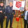 Port Clinton Police help support the Red Kettle Campaign for the Salvation Army