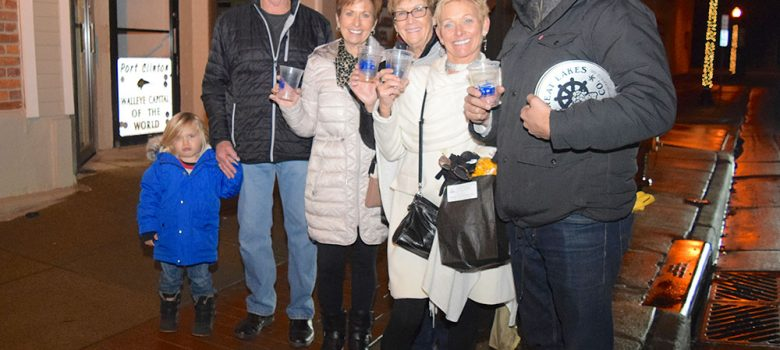 Shoppers at the annual Sip & Shop in Port Clinton