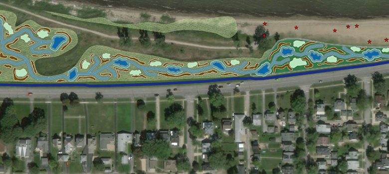 Port Clinton shoreline wetlands project