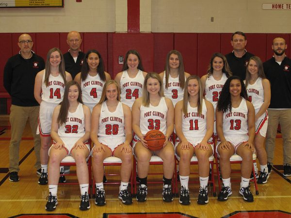 Port Clinton girls varsity basketball team