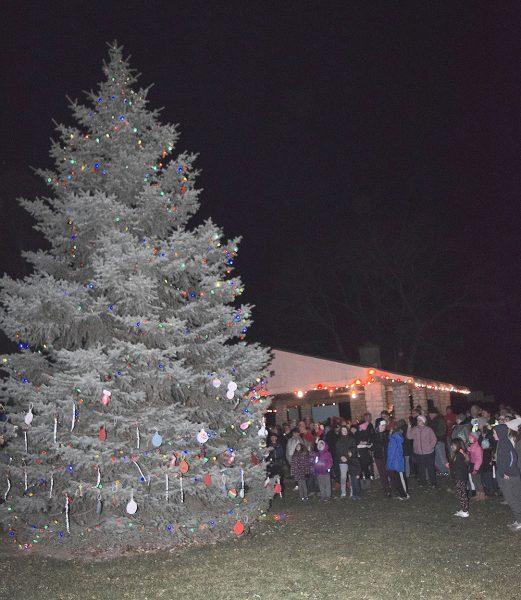 Christmas tree at Marblehead lighting celebration