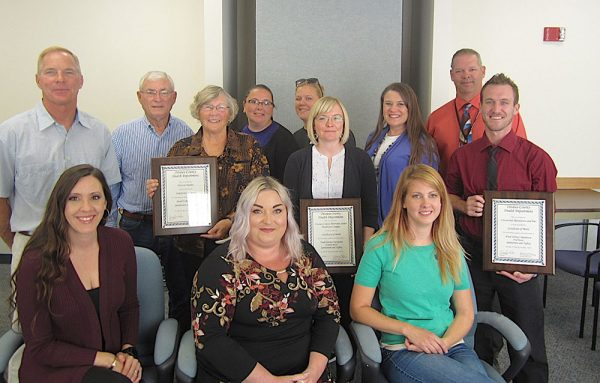Image of Ottawa County Health Department award recipients