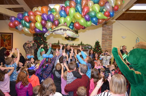 Image of kids party from 2019 Walleye Drop