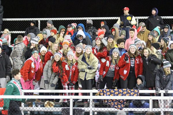 Oak Harbor students in the stands for Rockets playoff game
