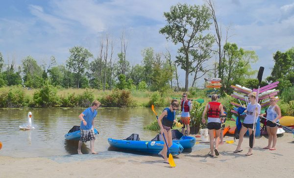 Image of people at the Portage River Paddling Company