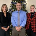 Image of Michelle Mueller, Bob Candage, and Lisa Recker at the Tri-Club Christmas Pary