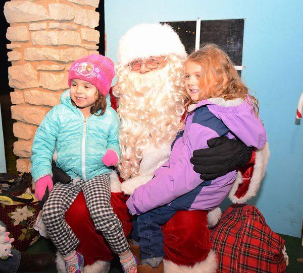 Santa Claus vists Marblehead Tree lighting celebration
