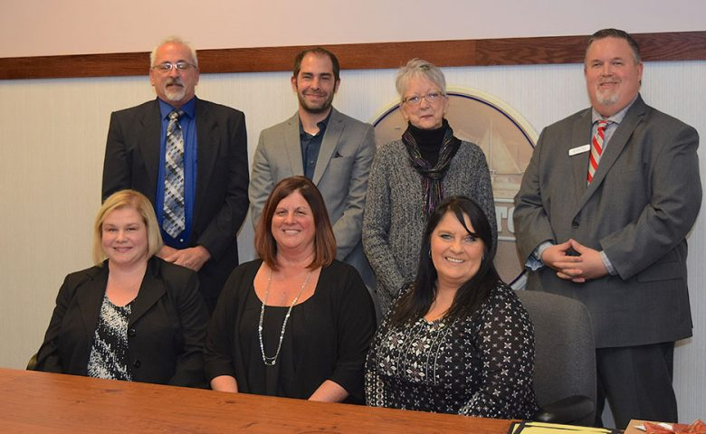 Image of local politicians sworn in on December 23 2019 in the Port Clinton City Chambers