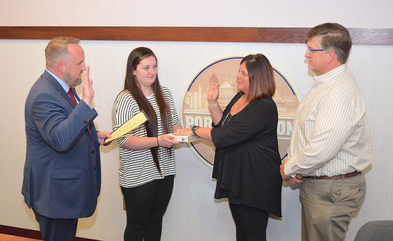 Lisa A. Sarty was sworn in as President of Port Clinton City Council by Gabe Below, Ward 4 Councilman.