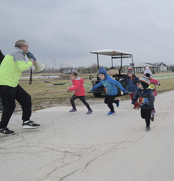 Mike Schenk launches Trot for Tots at the Jessie Schenk Memorial Turkey Chase