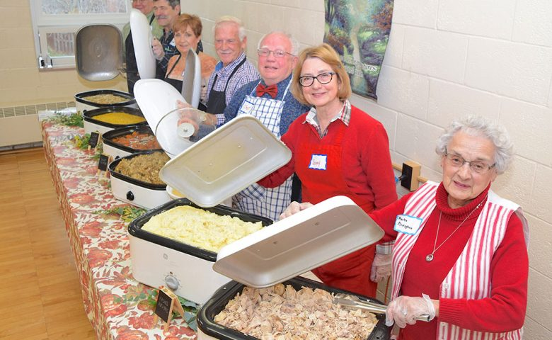 Volunteers at A United Thanksgiving at Trinity United Methoidst Church in Port Clinton