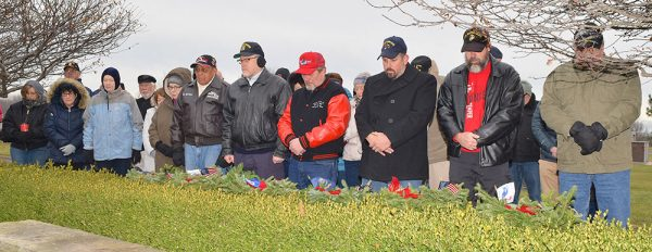 Image of people at at a Wreathes Across America ceremony