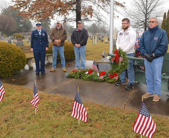 Image of veterans Wally Mahler, Jonathan McClellan, Joe Monakl, David McDougall