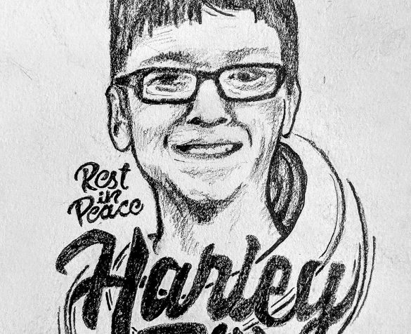 Sketch of Harley Dilly