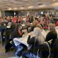 Image of local realtors of Ottawa County during a Charity Christmas lunch at the Catawba Island Club
