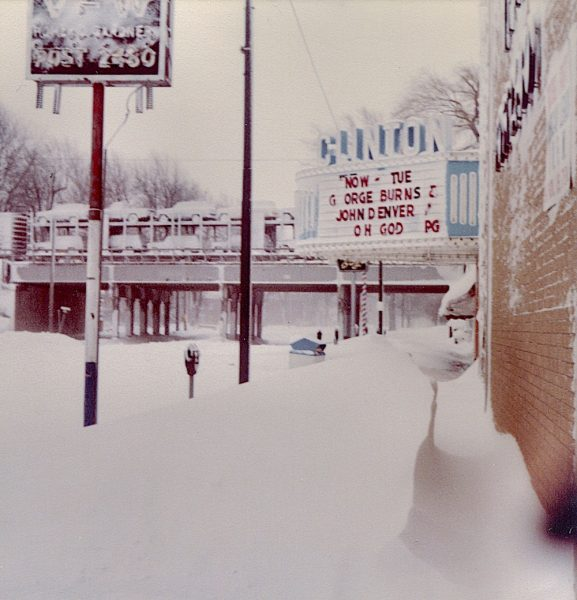 Image of downtown Port Clinton after the Blizzard of '78