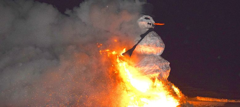 Image of Furning Snowman on fire