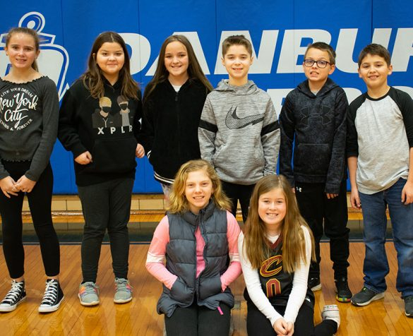 Image of Honor Roll and Merit Roll students at Danbury