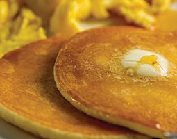 Image of eggs and pancakes