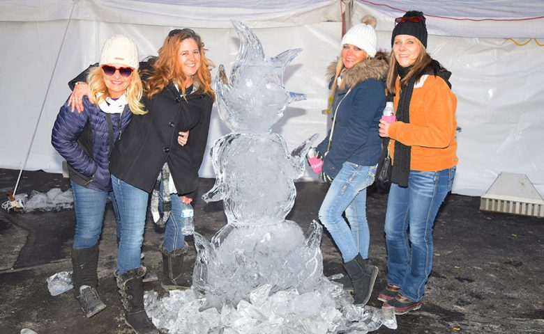 Image of ice sculpture from the Burning Snowman event