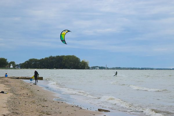 Image of Windsurfers in Port Clinton