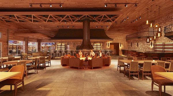 An architect's rendering of the Gideon Wine Company's new Chalet Restaurant.