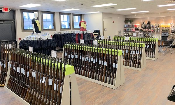 Image of gun racks in CMP North Store