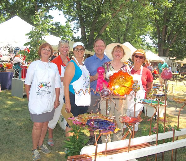 Image of Arts in the Park vendors