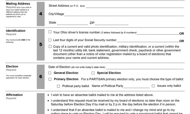 Absent Ballot request in Beacon