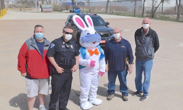 Easter Bunny made Port Clinton hop