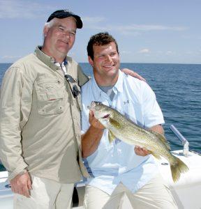 Joe Thomas and his dad, Eric Thomas